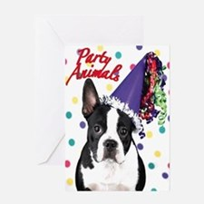 Boston Terrier Party Animal Greeting Card