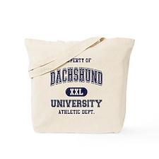 Dachshund University Tote Bag