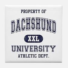 Dachshund University Tile Coaster