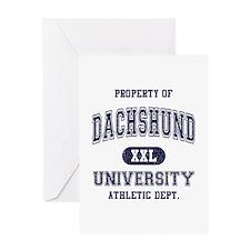 Dachshund University Greeting Card
