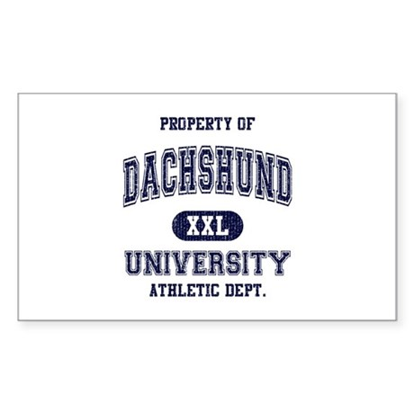 Dachshund University Sticker (Rectangle)