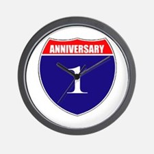 1st Anniversary! Wall Clock