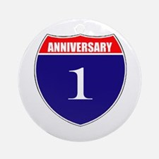 1st Anniversary! Ornament (Round)