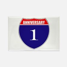 1st Anniversary! Rectangle Magnet