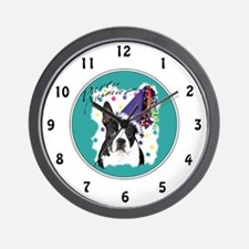 Boston Terrier Party Animal Wall Clock