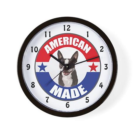 American Made Boston Terrier Wall Clock