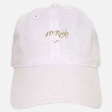 Fancy Gold 40th Birthday Baseball Baseball Cap