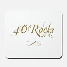 Fancy Gold 40th Birthday Mousepad