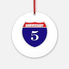 5th Anniversary! Ornament (Round)
