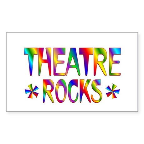 Theatre Sticker (Rectangle)