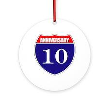 10th Anniversary! Ornament (Round)