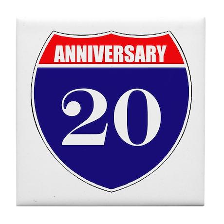 20th Anniversary! Tile Coaster