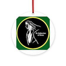 Catherine of Siena Ornament (Round)
