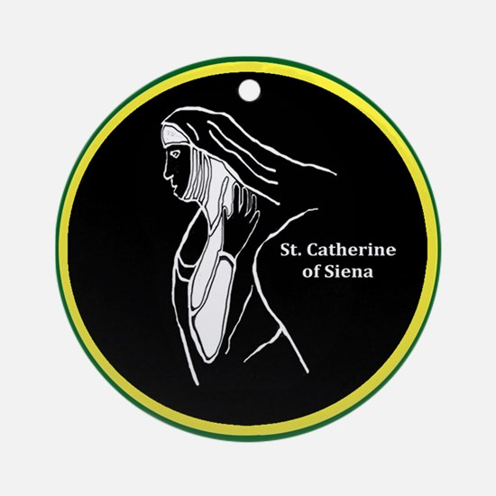 Catherine of Siena Ornament (Round)