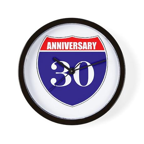 30th Anniversary! Wall Clock