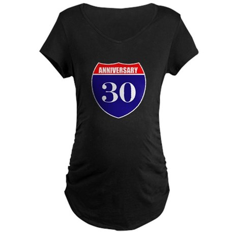 30th Anniversary! Maternity Dark T-Shirt
