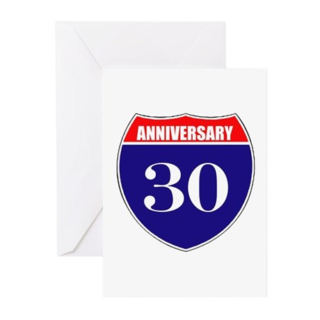 30th Anniversary! Greeting Cards (Pk of 10)