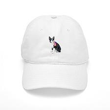 Boston terrier with Flag Baseball Cap