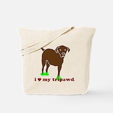 I Love My Tripawd Tote Bag