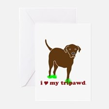 I Love My Tripawd Greeting Cards (Pk of 10)