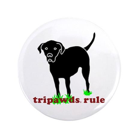 """Tripawds Rule Rear Leg Lab 3.5"""" Button"""