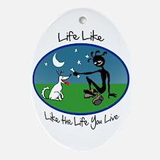 Color 'Life Like' Ornament (Oval)