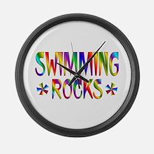 Swimming Large Wall Clock