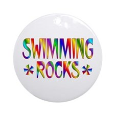 Swimming Ornament (Round)