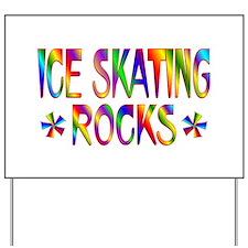 Ice Skating Yard Sign