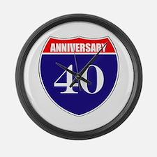 40th Anniversary! Large Wall Clock
