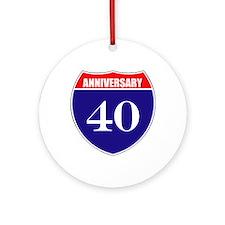 40th Anniversary! Ornament (Round)