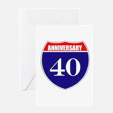 40th Anniversary! Greeting Card
