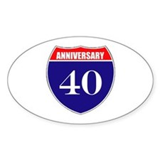 40th Anniversary! Decal