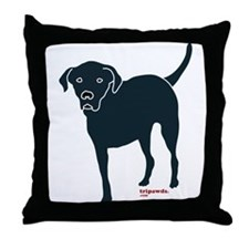 Tri-Lab Silhouette (Front) Throw Pillow