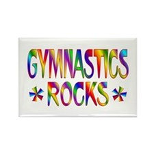 Gymnastics Rectangle Magnet
