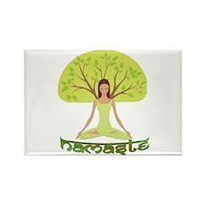 Namaste Tree Rectangle Magnet