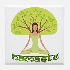 Namaste Tree Tile Coaster