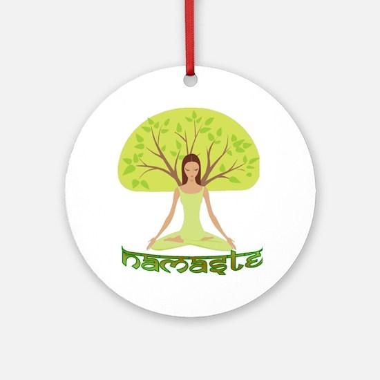 Namaste Tree Ornament (Round)