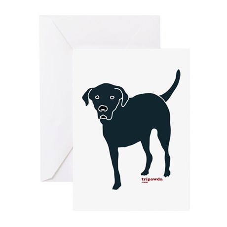 Tri-Lab Silhouette (Front) Greeting Cards (Pk of 1
