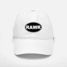 Rawr Black Oval Baseball Baseball Cap