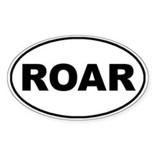 Roar White Oval Bumper Stickers