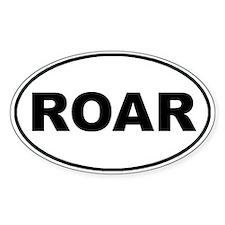 Roar White Oval Decal
