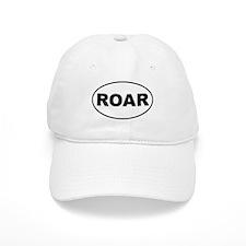 Roar White Oval Baseball Cap