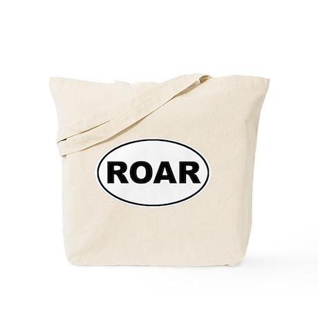 Roar White Oval Tote Bag