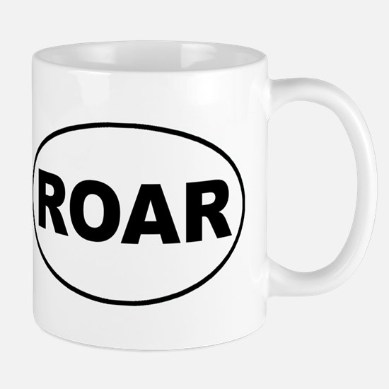 Roar White Oval Mug