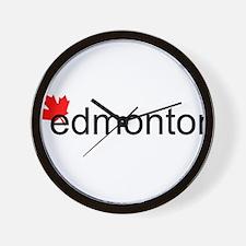 "Edmonton ""hot"" Wall Clock"