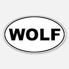 Wolf White Oval Sticker (Oval)