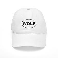 Wolf White Oval Baseball Cap