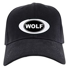 Wolf Black Oval Baseball Hat