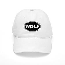 Wolf Black Oval Baseball Cap